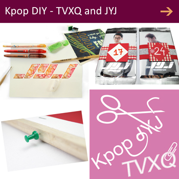 Kpop DIY TVXQ DBSK JYJ handmade stuff DBSK photocards decorations