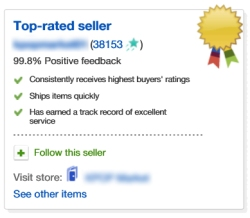 Ebay safe store top rated seller Kpop