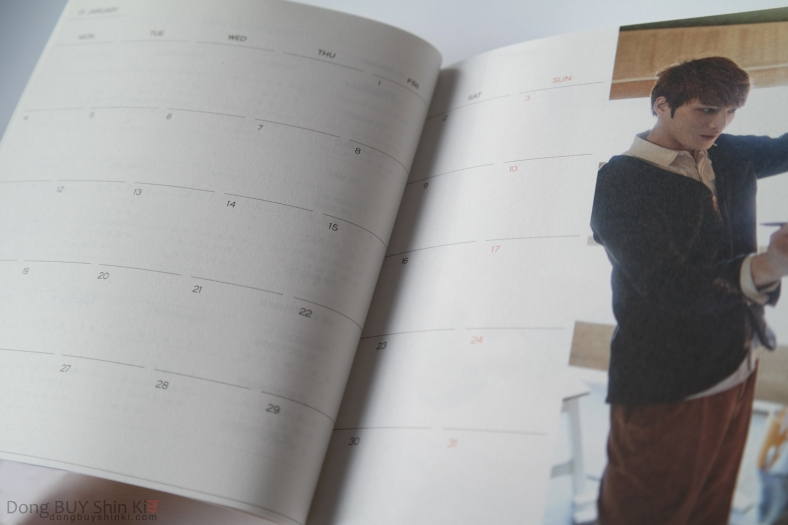 unboxing 2016 daily planner JYJ Jaejoong